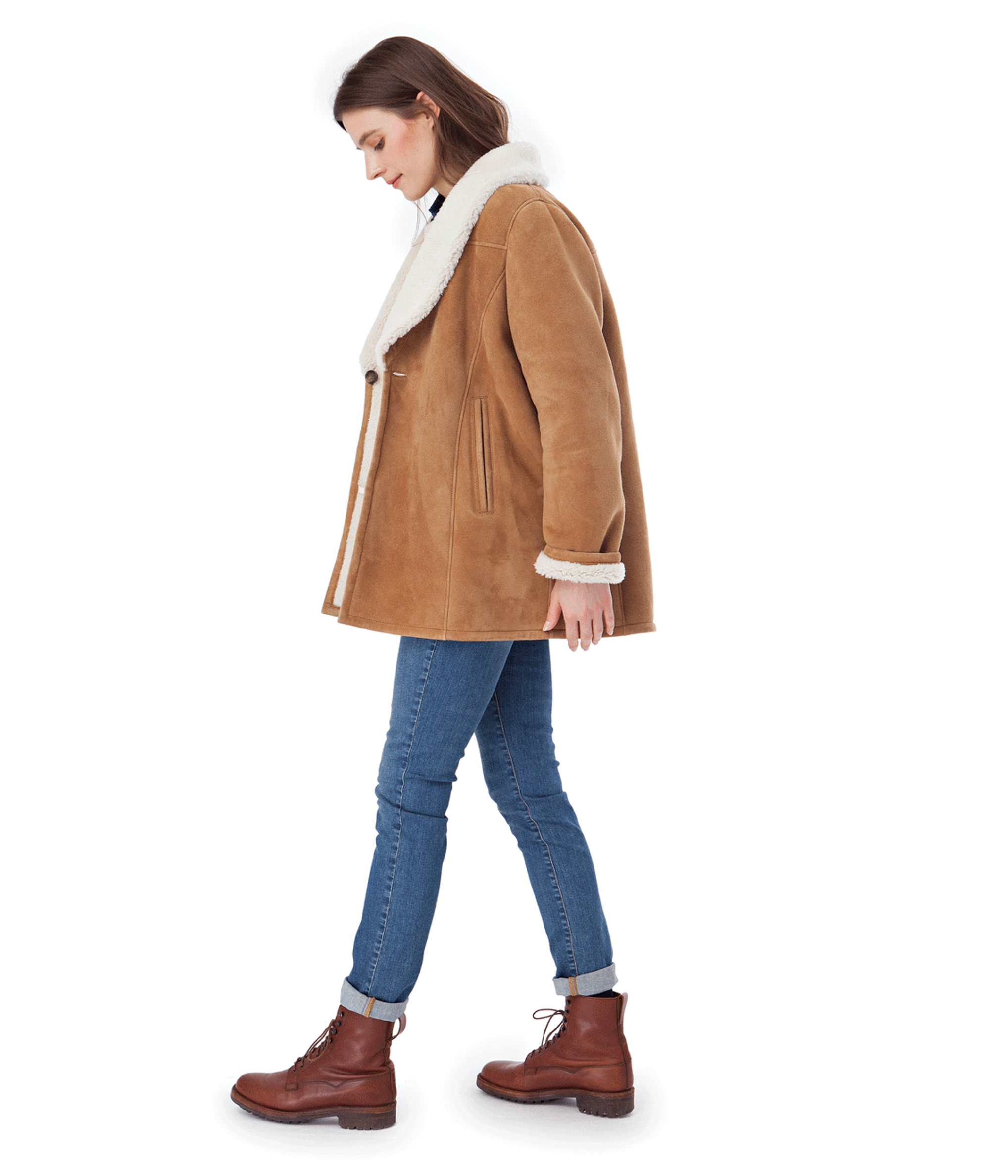Shearling Jacket, Chipmunk Brown
