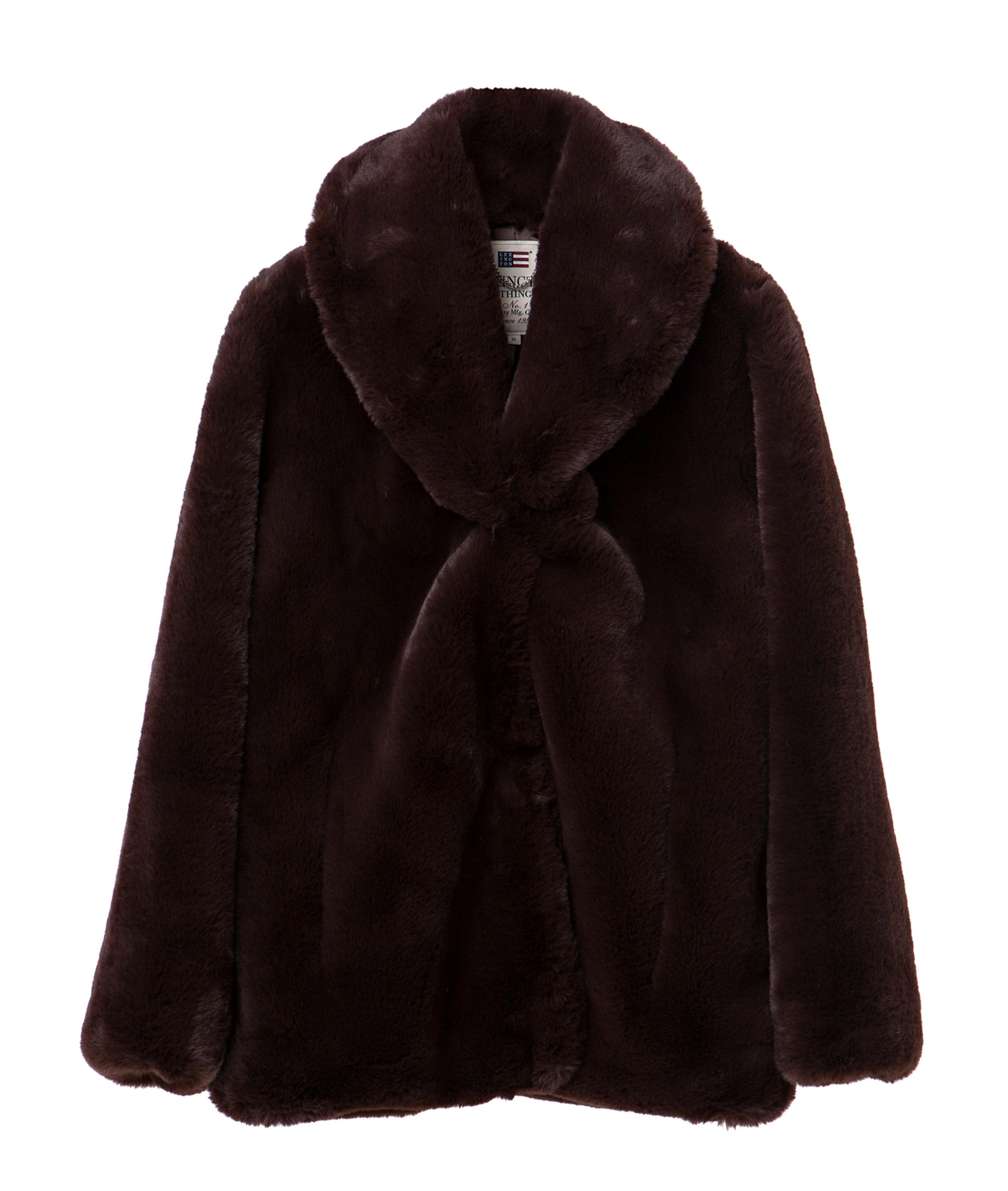 Faux Fur Jacket, Coffee Bean Brown